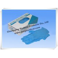 Quality Blue Nitrile Medical Surgical Gloves AQL 1.5 4 mil Powder Free for sale