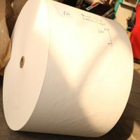 China paper roll with flexo pinting for making cup,single wall pe coated paper for cups on sale