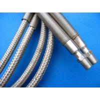 Silver PTFE  Tube , PTFE  Pipe Wrapped Stainless Steel Wire