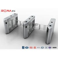Security Access Control System Electric Swing Barrier Gate With  Biometric System Manufactures