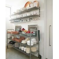 Multi - Function Commercial Wire Shelving , Hotel Counter Top And Food Prepare Stainless Steel Work Table Manufactures