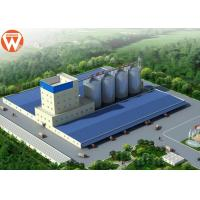 Capacity 20T/H Animal Feed Production Line With Raw Materials Silo Manufactures