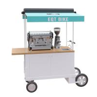 Mobile Coffee Bike Cart With High Specification Battery Configuration Manufactures