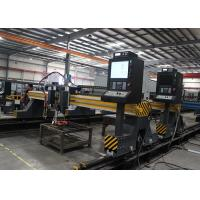 Steel Plate CNC Flame Plasma Cutting Machine For Ship Building Industry 4200mm X 16800mm Manufactures