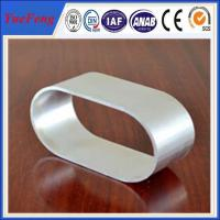 Industrial use 6063 natural color Oval Aluminum Extrusion of anodizing Manufactures