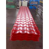 China Custom Red or Orange Metal Roofing Sheets , Trapezoidal Steel Sheet Waterproof on sale