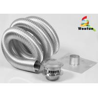 Semi - Rigid Heat Resistant Flexible Ducting Aluminum Extendable Easy Installation Manufactures