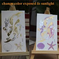 Glow In The Dark Temporary Tattoos , Water Tansfer Body Art Temporary Tattoos Manufactures