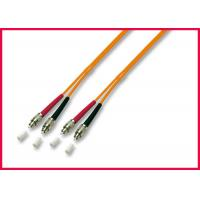 China OFNR Multimode Duplex Fiber Optic Cable , Orange Fiber Optic Jumper Cables on sale