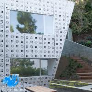 Punching pattern aluminum single board outdoor aluminum curtain wall perforated aluminum plate profile decoration