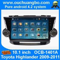 China Ouchuangbo Toyota Highlander 2009-2011 android 4.2  autoradio DVD GPS stereo navigation system support   4 core MP4 Aux on sale
