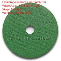 China green cut off wheel , cutting disc for stainless steel, general steel miya@moresuperhard.com on sale