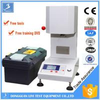 China LCD Plastic Testing Equipments , PLC Melt Flow Rate Tester for ABS / Polystyrene on sale