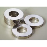 Strong Permanent Ring Neodymium Magnet DC / Servo Motor Magnet With Nickel Coating Manufactures