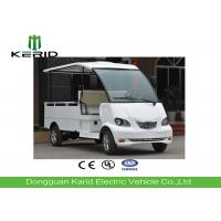 White 4 Wheels Mini Electric Cargo Van Utility Buggy With Metal Cargo Box Manufactures