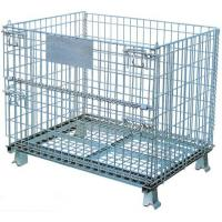 Buy cheap Collapsible Wire Mesh Container Basket Stillage Cage Storage Pallet Bin from wholesalers