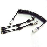 5 Pin PU Coiled Trailer Cable , Spiral Electrical Cable For Back Rear Camera Manufactures