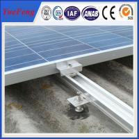 Factory price, roof/ tile roof solar mounting structure, AL rail,glazed tile, clamps Manufactures