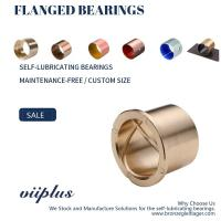 Precision Flanged Groove Cast Bronze Bushings Spiral Inside Groove Bearings Manufactures