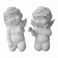 Hand-painted Polyresin Angel Decors, OEM Orders Welcomed, Meets EN71 and CPSIA Standards Manufactures