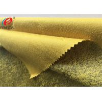 China Warp Knitted Bronzing Micro Suede Polyester Fabric For Sofa / Upholstery on sale