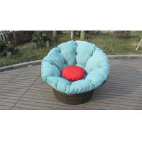 Round shape garden daybed wicker rattan beach swivel chair in all weather Manufactures