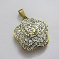 Fashion Jewelry Flower Shape 316 Stainless Steel Crystal Pendants Manufactures