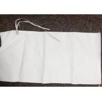 China White Empty Polypropylene Sandbags , Heavy Duty Plastic Bags For Sand Packing on sale