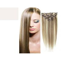 Brazilian Straight Virgin Clipping In Hair Extensions , Real Human Hair Extensions Clip In Manufactures