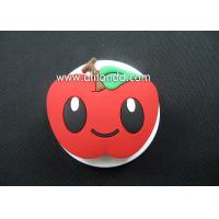 Different kinds of fruit shape soft pvc silicone cartoon file clips custom apple design paper clips wholesale Manufactures