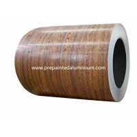 China Wooden Pattern 0.2mm Pre Painted Aluminum Coil In Wall Panel on sale