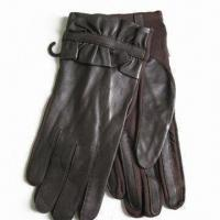Ladies Dress Gloves, Made of Sheep Skin Leather, No Lining Manufactures
