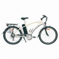 E-bike with Aluminum-alloy Frame, Front and Rear V-brake, LED Meter and Shimano 7 Speeds Manufactures