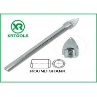Single Carbide Drill Bits Chrome Plated Round Shank With ISO 9000 Approval Manufactures