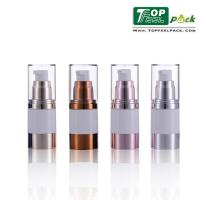 Transparent Body Airless Pump Bottles Airless Vacuum Pump Bottle For Lotion Serum Manufactures