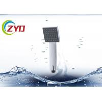 China Removable Square Handheld Shower Head, Chrome Surface High Efficiency Shower Head on sale