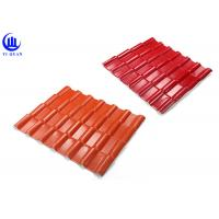 Warehouse Synthetic Spanish Roof Tiles Acoustic Insulation Corrosion Resistance Manufactures
