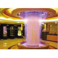 Beautiful Indoor Water Fountain / Water Curtain RGB Lights For Decorating Large Hall Manufactures
