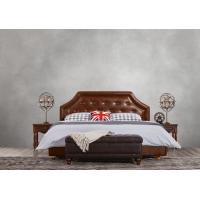 Quality American style Good quality Gery Fabric Upholstered Headboard Queen Bed Leisure for sale