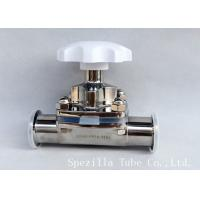 Manual Stainless Steel Diaphragm Valve Two Way With Clamped Ends , Finely Finished Surface Manufactures