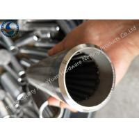 Bleved Welding Ring V Wire Wrap Screen Pipe / Water Well Screen For Sand Control Manufactures