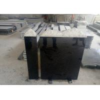 European Style Granite Memorial Headstones Black Galaxy / Other Color Manufactures