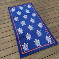 Woven Luscious Sea Turtle Beach Towel Color Fastness For Dorm Life