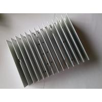 Extruded Aluminum HeatSink Silver Anodizing CNC Machining Cool Fin Heat Sink CE GS For LED Lighting Manufactures