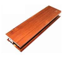 Quality Square Wood Finish Aluminium Profiles , Different Colors Aluminium Framing Systems for sale