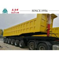 Durable 80 Tons Heavy Duty Tipper Trailer For Bauxite Ore Transport In Ghana Manufactures