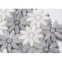 New Best Selling Carrara Stone Flower Marble Pattern Atpalas Mosaics Tiles Manufactures