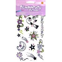 Quality ODM Body art Star Design washable large Glitter Temporary Tattoo for adults for sale
