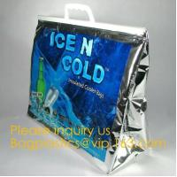 China China supplier custom Aluminium foil insulated thermal lunch cooler bag big ice bag for frozen food and lunch bagease on sale