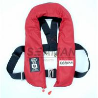 EC / MED Approval 150N Orange Red Double Air Chamber Inflatable Life Jacket With Harness Manufactures